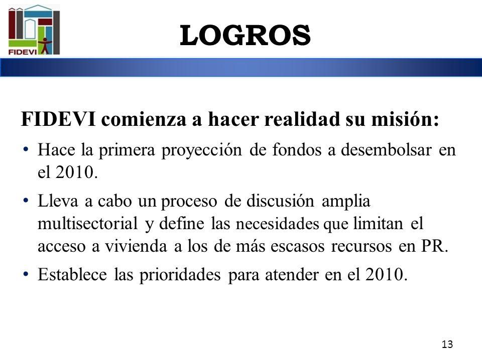 FIDEVI comienza a hacer realidad su misión: Hace la primera proyección de fondos a desembolsar en el 2010. Lleva a cabo un proceso de discusión amplia