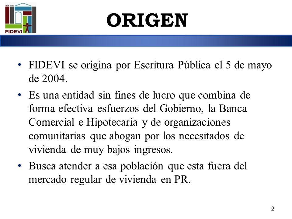 FIDEVI se origina por Escritura Pública el 5 de mayo de 2004. Es una entidad sin fines de lucro que combina de forma efectiva esfuerzos del Gobierno,