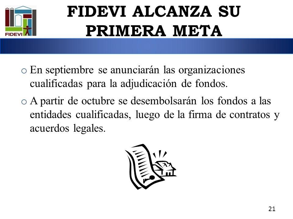 o En septiembre se anunciarán las organizaciones cualificadas para la adjudicación de fondos. o A partir de octubre se desembolsarán los fondos a las