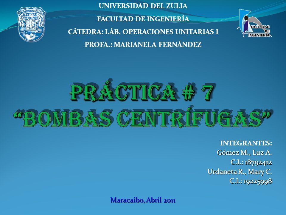 INTEGRANTES: Gómez M., Luz A. C.I.: 18792412 Urdaneta R., Mary C. C.I.: 19225998 Maracaibo, Abril 2011 UNIVERSIDAD DEL ZULIA FACULTAD DE INGENIERÍA CÁ