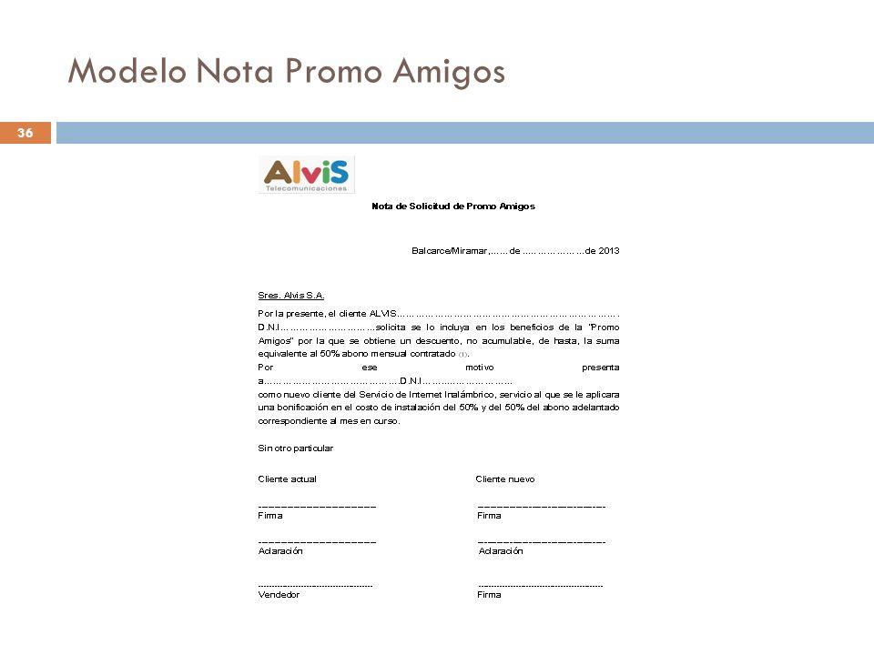 Modelo Nota Promo Amigos 36