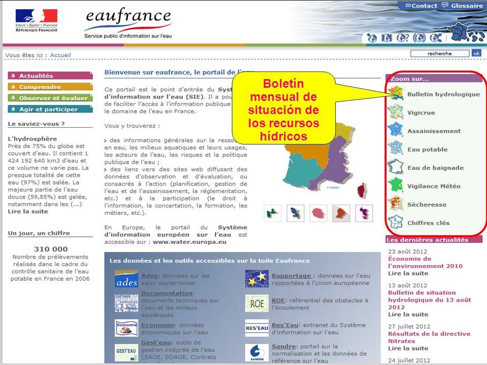 Sept. 2012 43 Boletín mensual de situación de los recursos hídricos