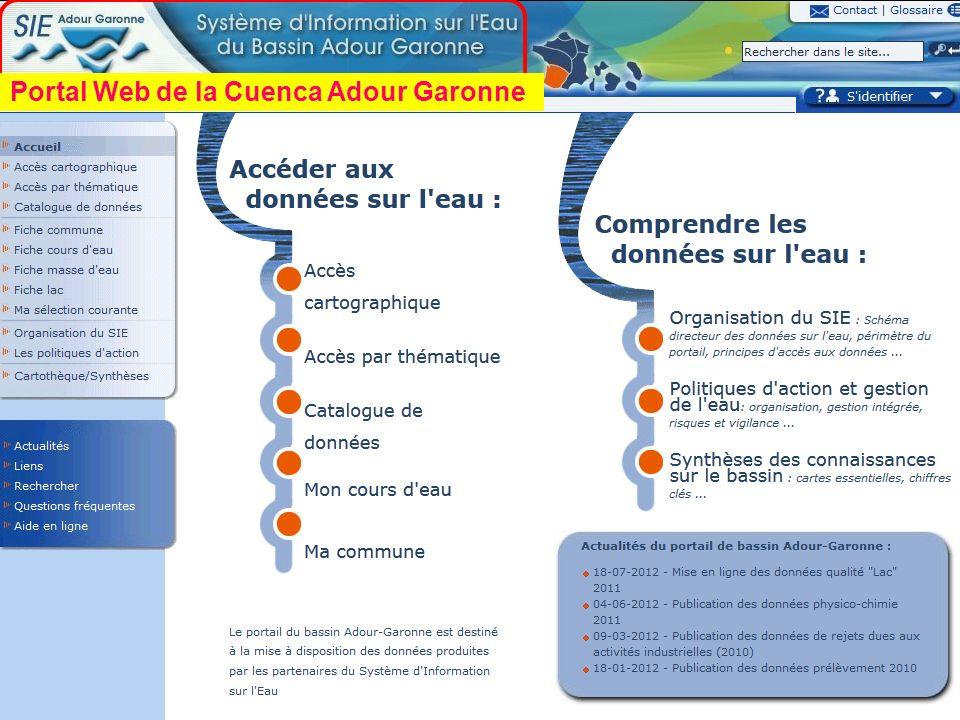 Sept. 2012 48 Portal Web de la Cuenca Adour Garonne