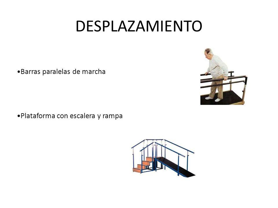 DESPLAZAMIENTO Barras paralelas de marcha Plataforma con escalera y rampa