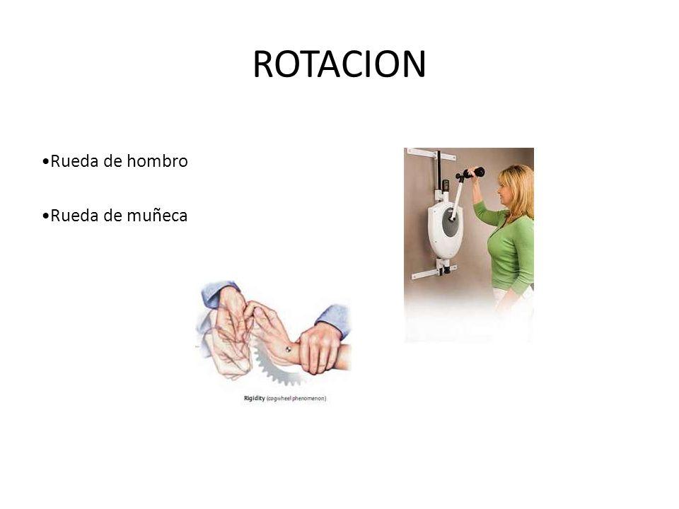 ROTACION Rueda de hombro Rueda de muñeca