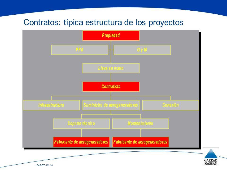 1045\BT\16\ 14 Contratos: típica estructura de los proyectos