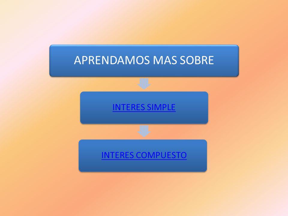 APRENDAMOS MAS SOBRE INTERES SIMPLE INTERES COMPUESTO