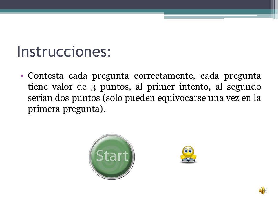 Tema Política y Gobierno de México Instrucciones