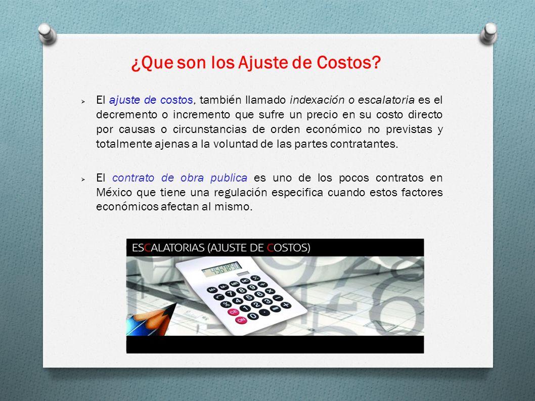 El ajuste de costos, también llamado indexación o escalatoria es el decremento o incremento que sufre un precio en su costo directo por causas o circu