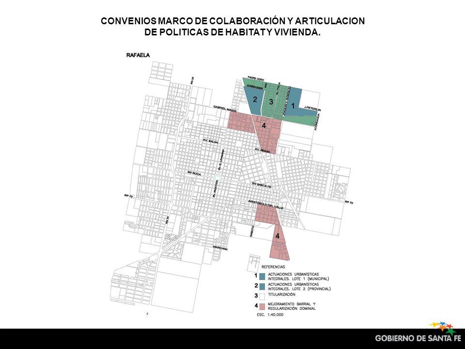CONVENIOS MARCO DE COLABORACIÓN Y ARTICULACION DE POLITICAS DE HABITAT Y VIVIENDA. 2 3