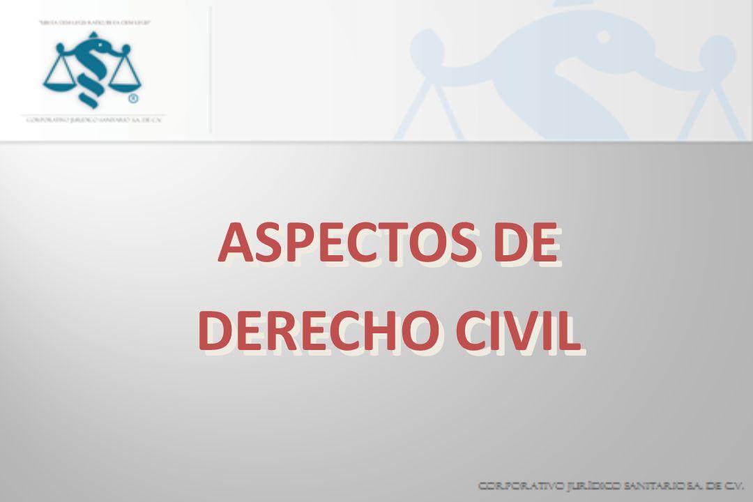 ASPECTOS DE DERECHO CIVIL ASPECTOS DE DERECHO CIVIL