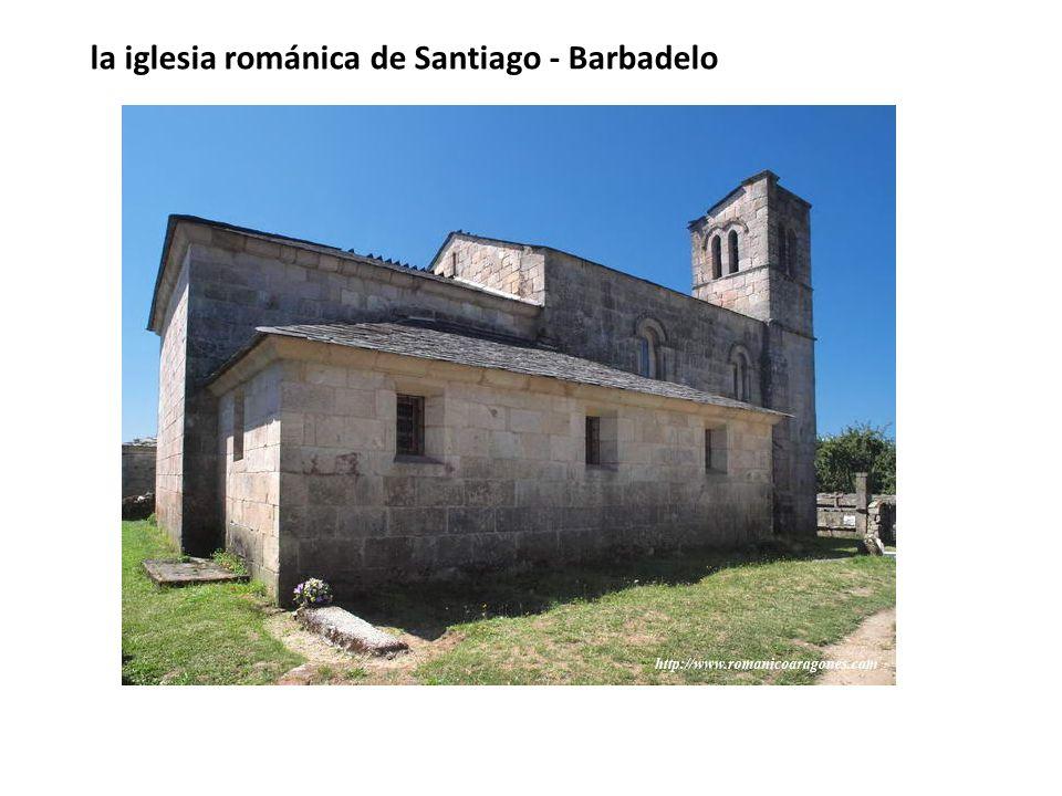 la iglesia románica de Santiago - Barbadelo
