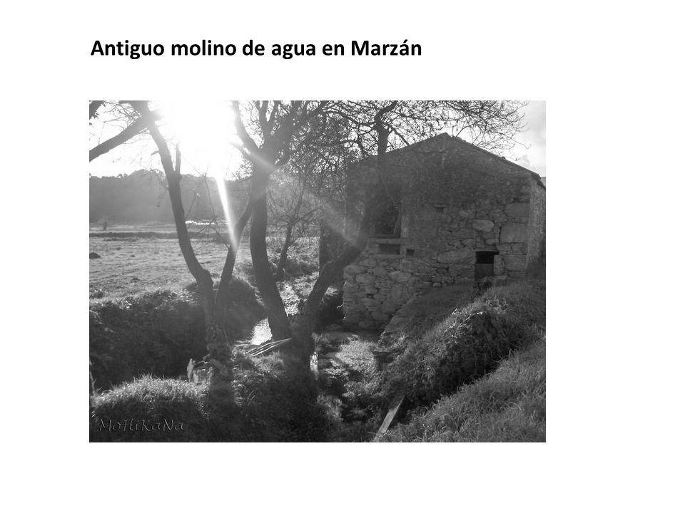 Antiguo molino de agua en Marzán