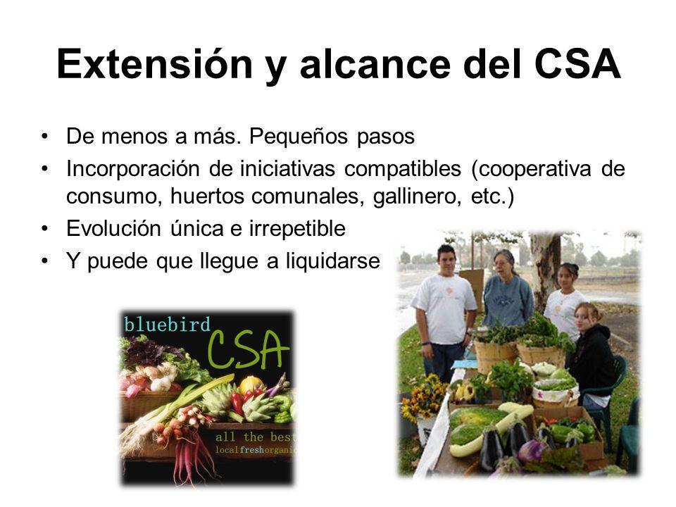 Extensión y alcance del CSA De menos a más.