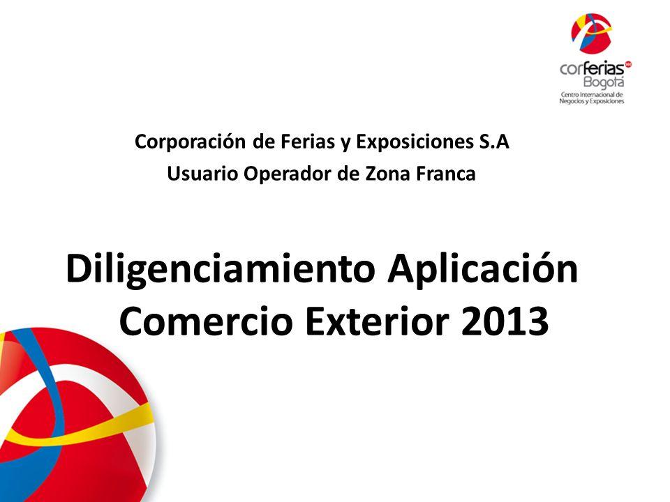 1. Ingresar a www.corferias.com 2. Click en calendario de eventos 2013 2013