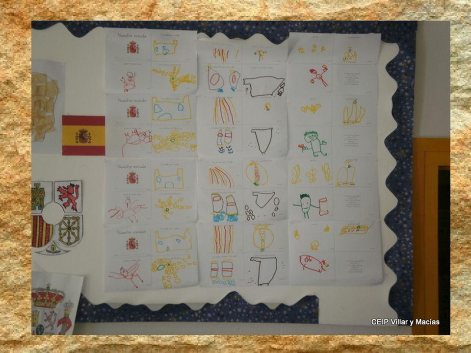 El Castillo por Castilla y por su reino, León. Las cadenas por Navarra, las barras por Aragón. Al final se unió Granada y Nuevos Mundos, más allá, ¡Ya