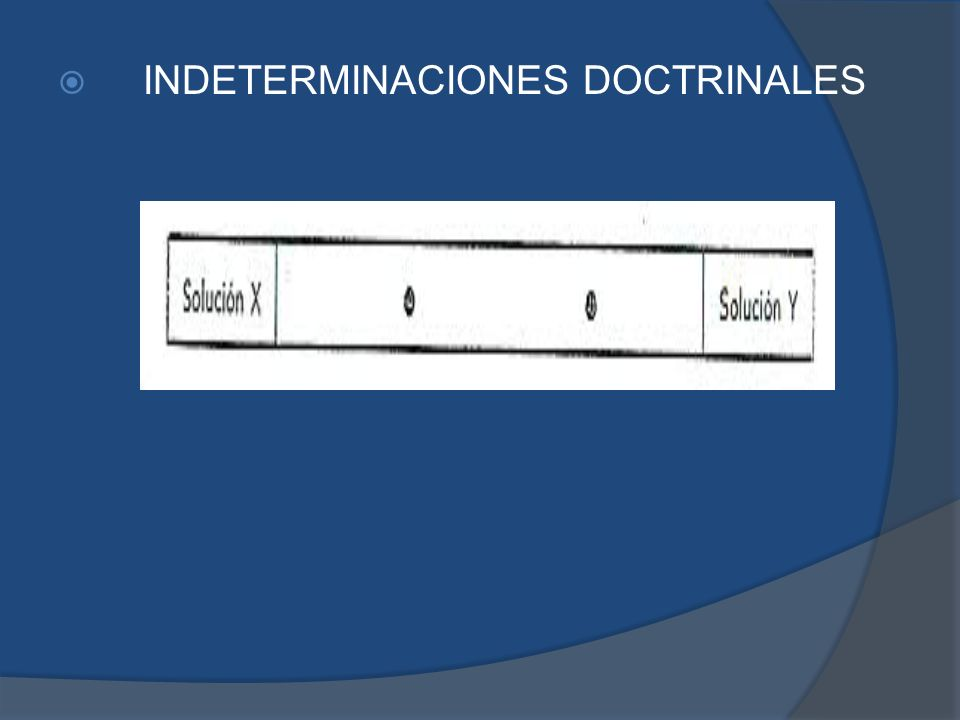 INDETERMINACIONES DOCTRINALES