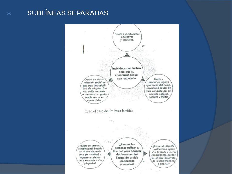 SUBLÍNEAS SEPARADAS
