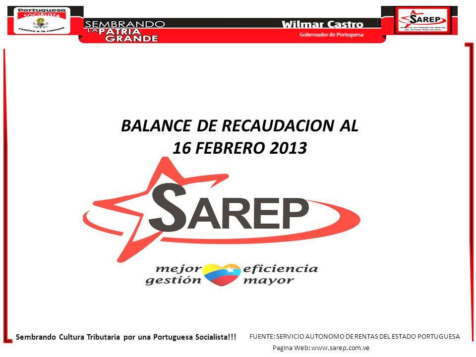 Sembrando Cultura Tributaria por una Portuguesa Socialista!!! FUENTE: SERVICIO AUTONOMO DE RENTAS DEL ESTADO PORTUGUESA Pagina Web: www.sarep.com.ve B