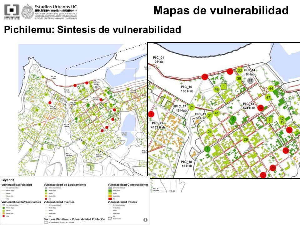 Pichilemu: Síntesis de vulnerabilidad Mapas de vulnerabilidad