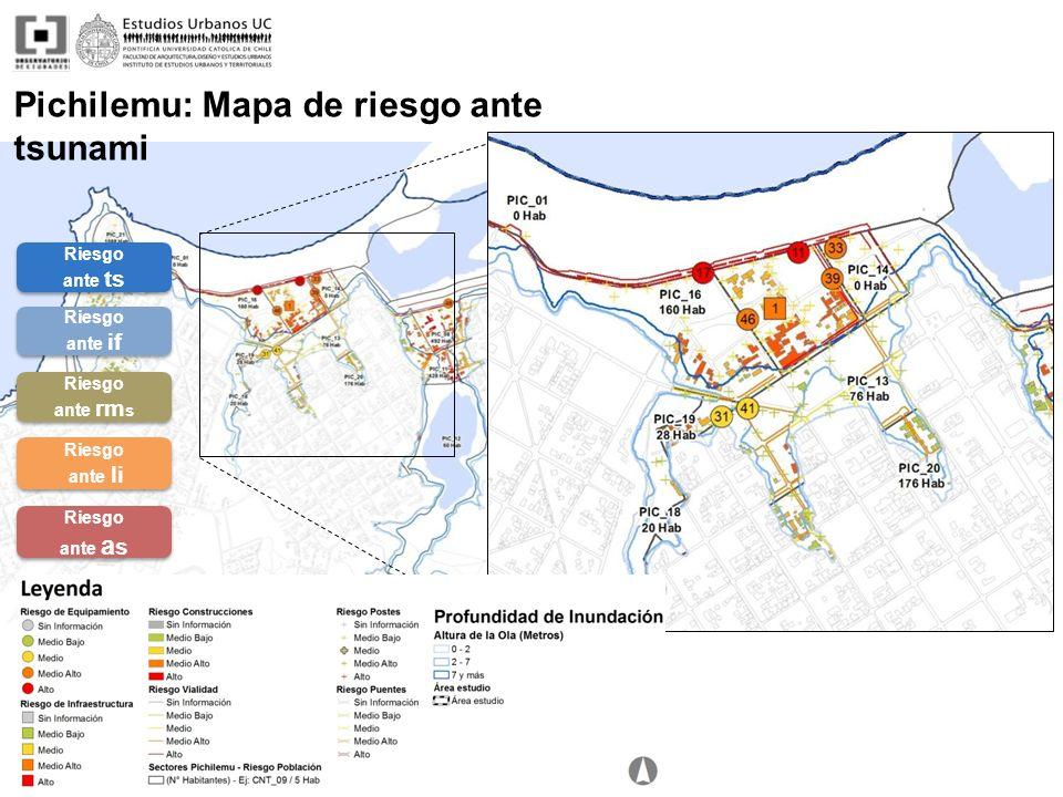 Pichilemu: Mapa de riesgo ante tsunami Riesgo ante ts Riesgo ante ts Riesgo ante if Riesgo ante if Riesgo ante rm s Riesgo ante rm s Riesgo ante li Ri