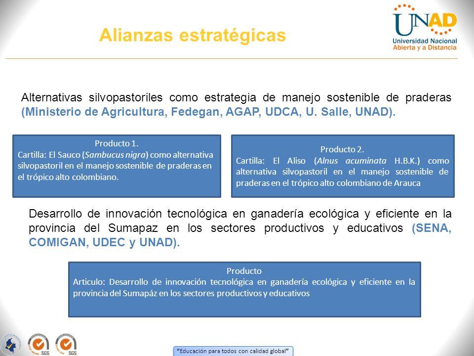 Educación para todos con calidad global Alternativas silvopastoriles como estrategia de manejo sostenible de praderas (Ministerio de Agricultura, Fede