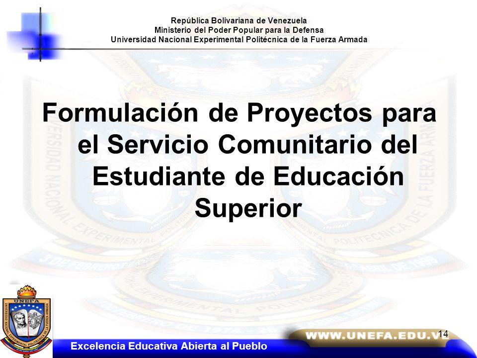 República Bolivariana de Venezuela Ministerio del Poder Popular para la Defensa Universidad Nacional Experimental Politécnica de la Fuerza Armada Form