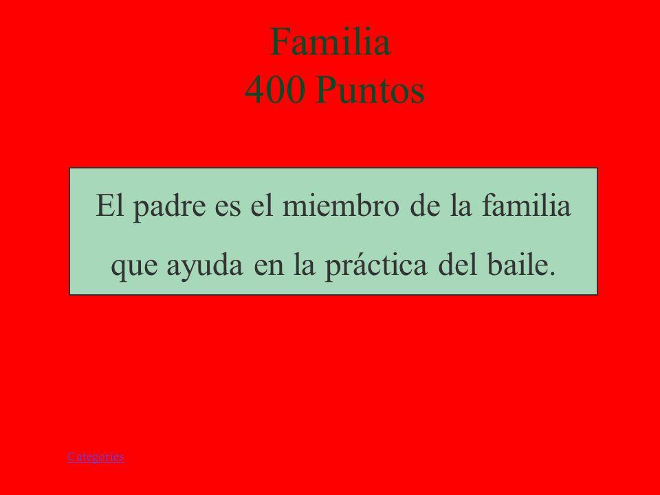 Categories ¿Quien es el miembro de la familia que ayuda en la práctica del baile del león? Familia 400 Puntos