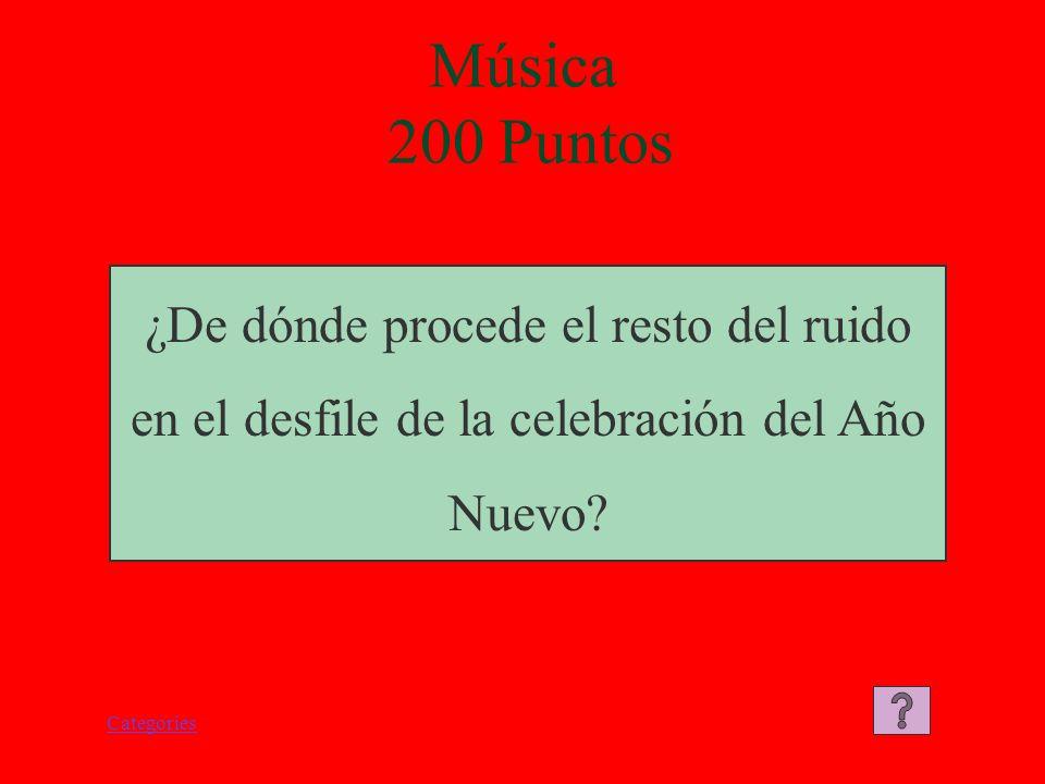Categories Música 100 Puntos El instrumento utilizado es el tambor.