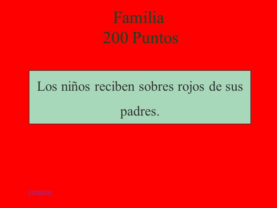 Categories Los niños reciben sobres rojos de sus padres. Familia 200 Puntos
