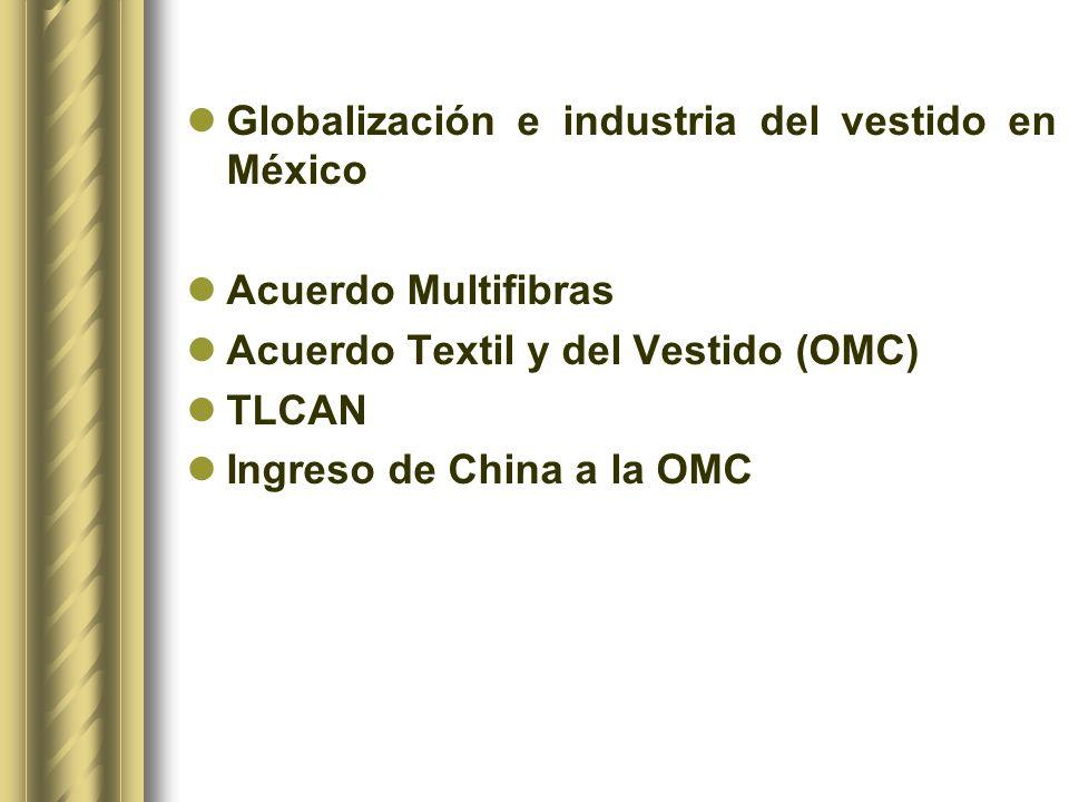Para la obtención de la información sobre el desempeño exportador de México y China en el mercado de EUA se utilizó el Sistema para Analizar el Crecimiento del Comercio Internacional (MAGIC[1]) de la Comisión Económica para América Latina y el Caribe (CEPAL), Naciones Unidas, versión 2004.[1] [1] Module to analyse the Growth to Internacional Commerce (MAGIC).