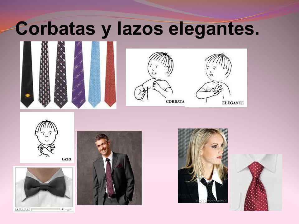 Corbatas y lazos elegantes.