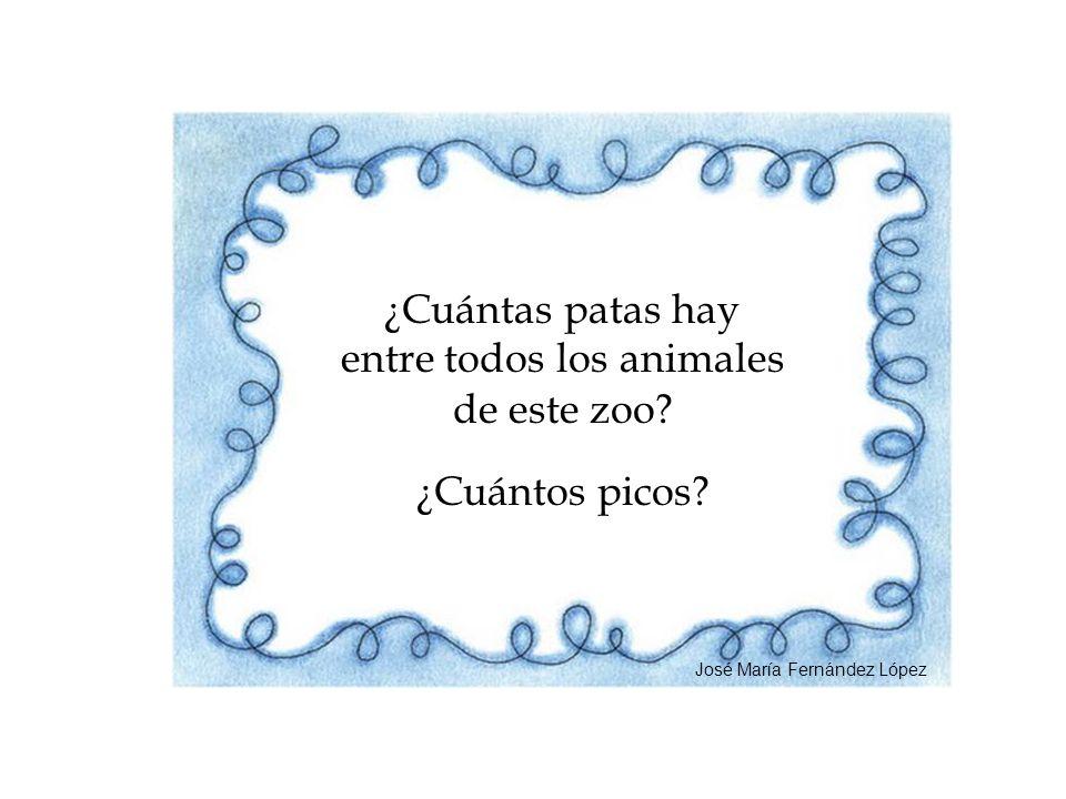¿Cuántas patas hay entre todos los animales de este zoo? ¿Cuántos picos? José María Fernández López