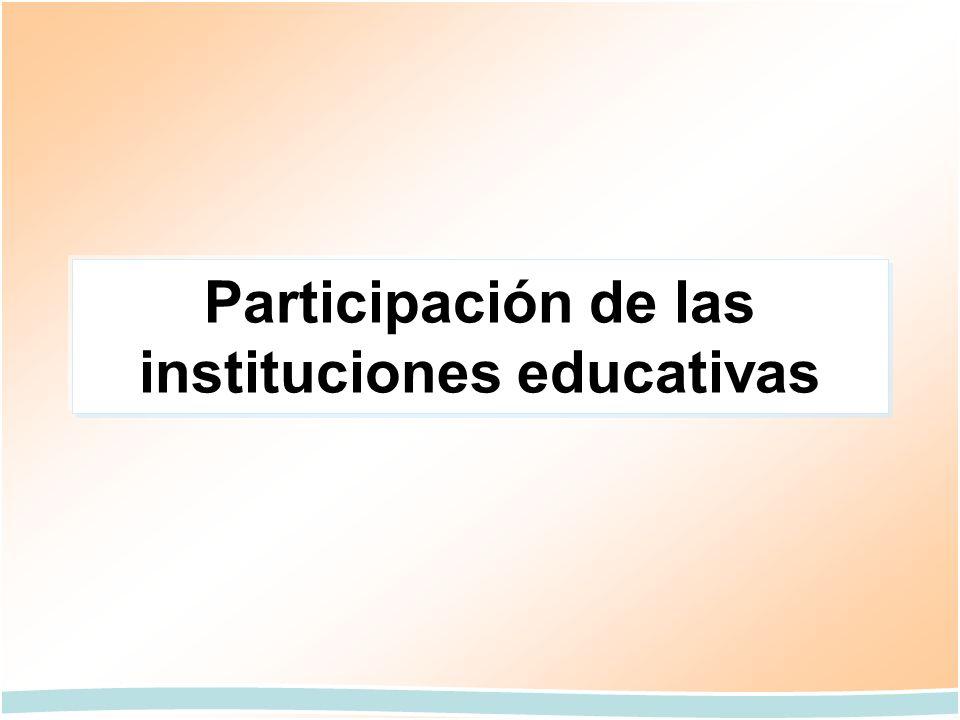 Participación de las instituciones educativas