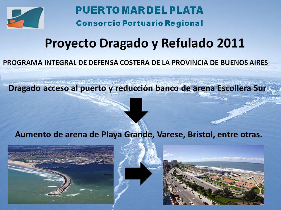 Proyecto Dragado y Refulado 2011 PROGRAMA INTEGRAL DE DEFENSA COSTERA DE LA PROVINCIA DE BUENOS AIRES Dragado acceso al puerto y reducción banco de ar