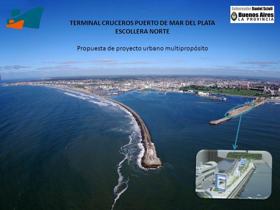 TERMINAL CRUCEROS PUERTO DE MAR DEL PLATA ESCOLLERA NORTE Propuesta de proyecto urbano multipropósito