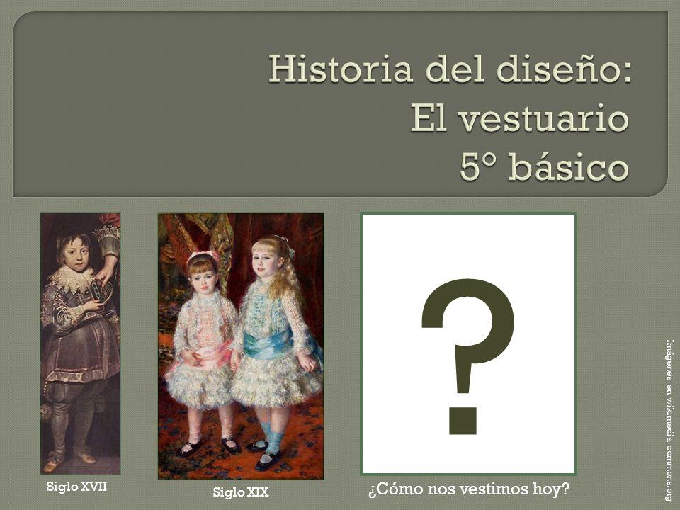 Imágenes en wikimedia commons.org Siglo XVII Siglo XIX ? ¿Cómo nos vestimos hoy?