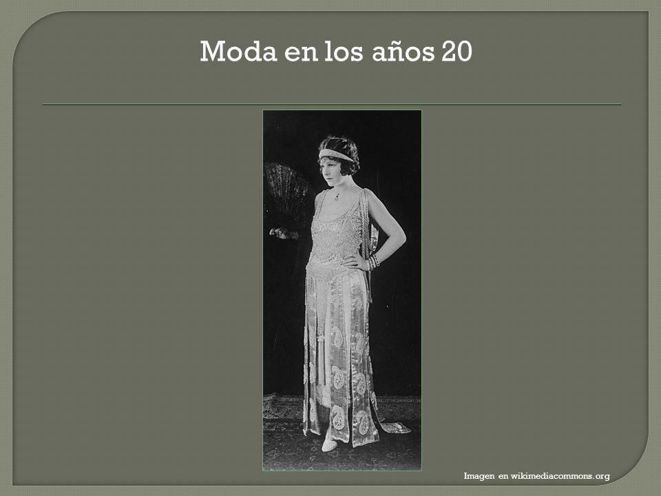 Moda en los años 20 Imagen en wikimediacommons.org