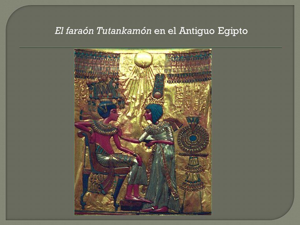 El faraón Tutankamón en el Antiguo Egipto