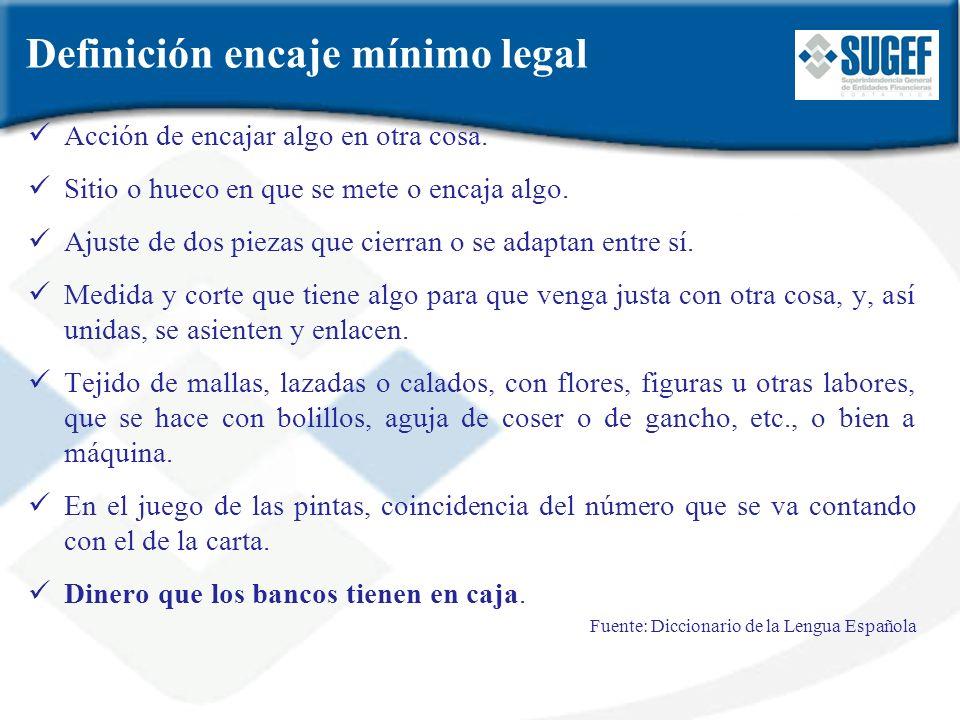 Entidades sujetas al requisito de encaje mínimo legal 1.Los bancos comerciales del Sistema Bancario Nacional.