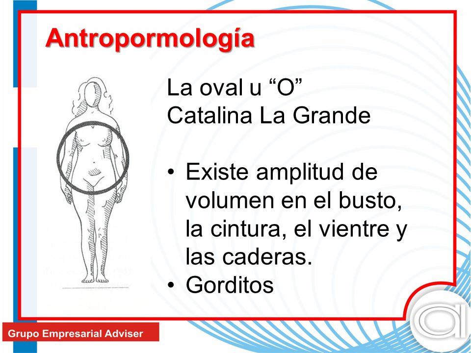 La oval u O Catalina La Grande Existe amplitud de volumen en el busto, la cintura, el vientre y las caderas. Gorditos Antropormología