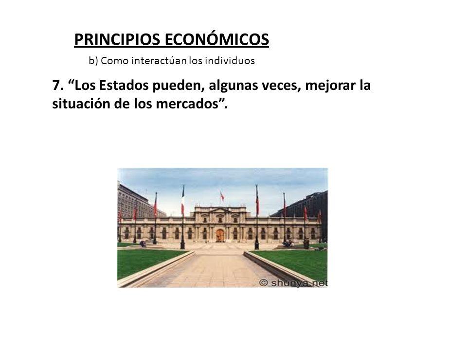 PRINCIPIOS ECONÓMICOS 7. Los Estados pueden, algunas veces, mejorar la situación de los mercados. b) Como interactúan los individuos