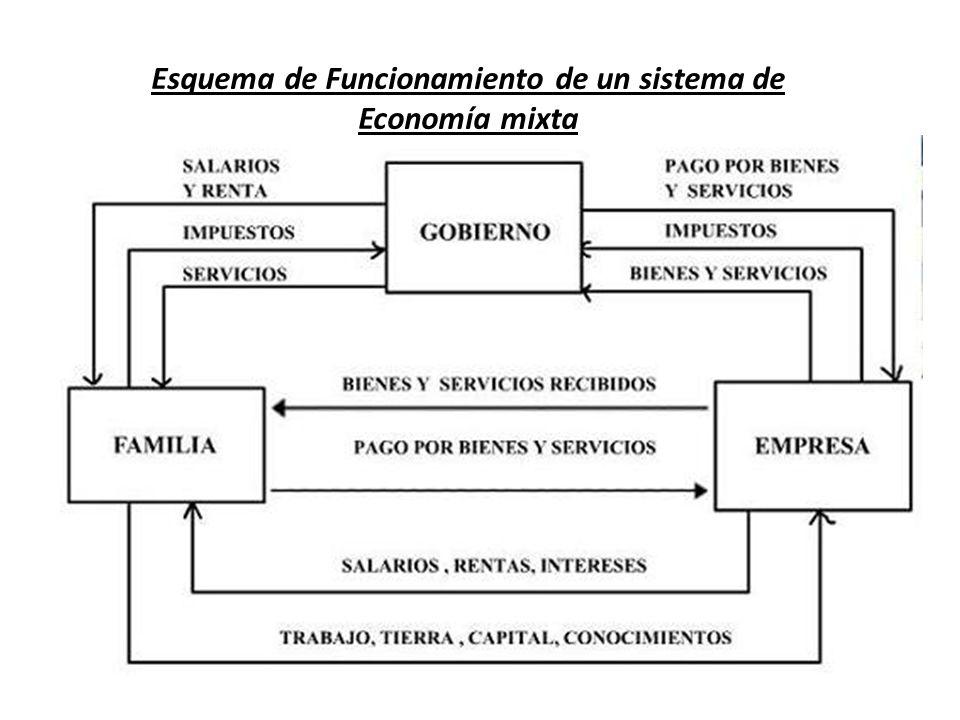 Esquema de Funcionamiento de un sistema de Economía mixta