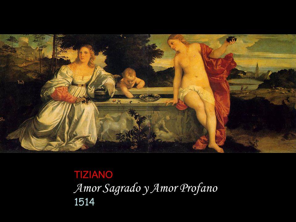 TIZIANO Amor Sagrado y Amor Profano 1514
