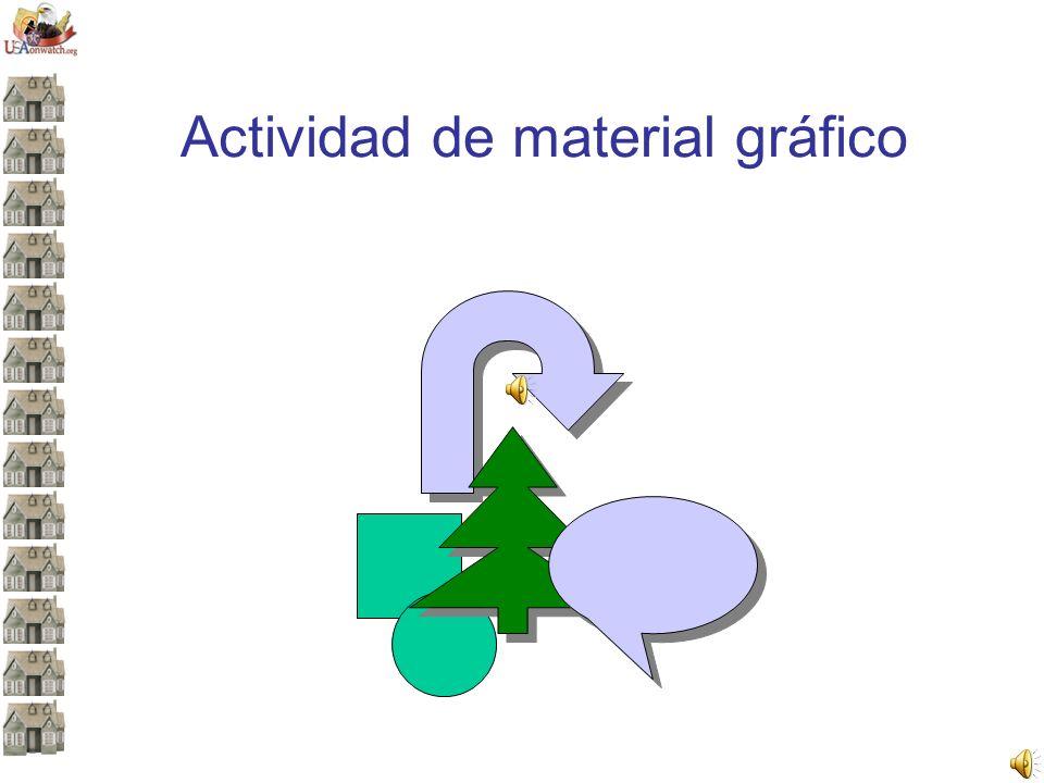 Actividad de material gráfico