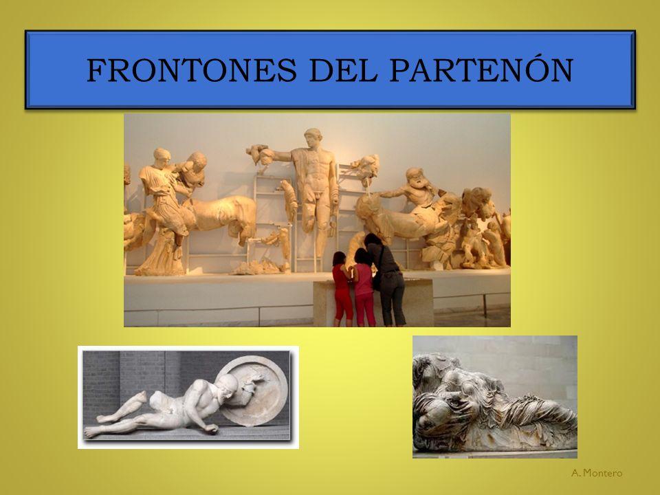 FRONTONES DEL PARTENÓN A. Montero