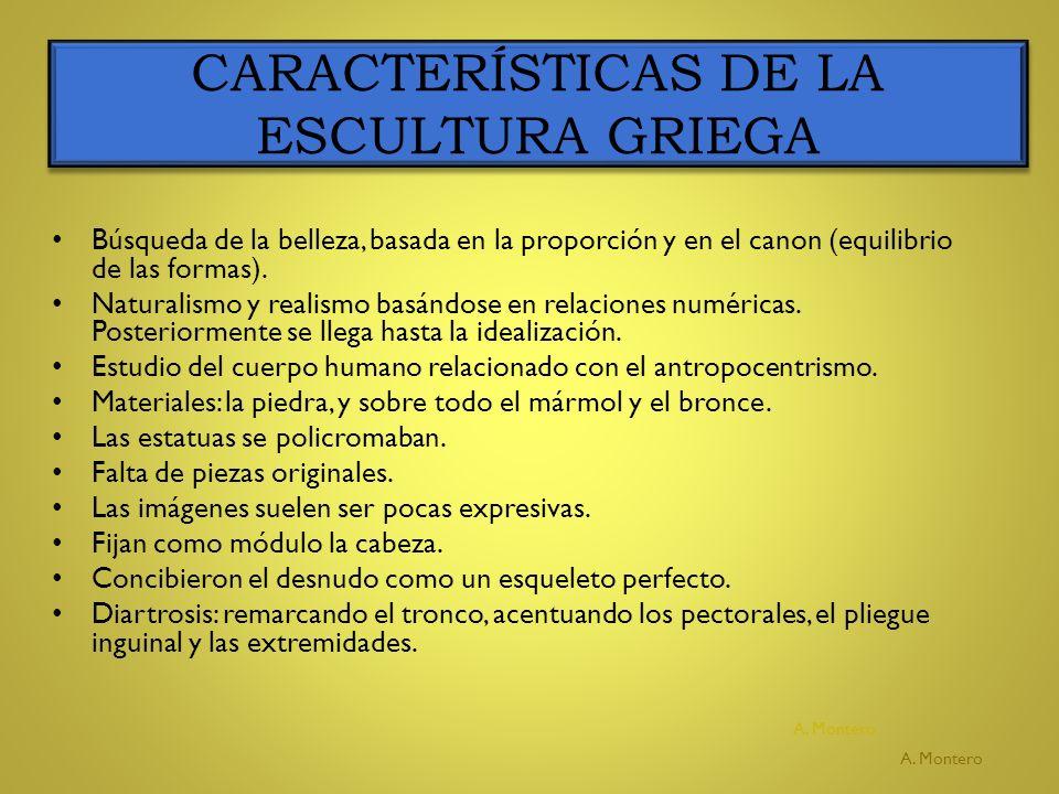 EVOLUCIÓN DE LA ESCULTURA GRIEGA ESCULTURA ARCAICA (S.