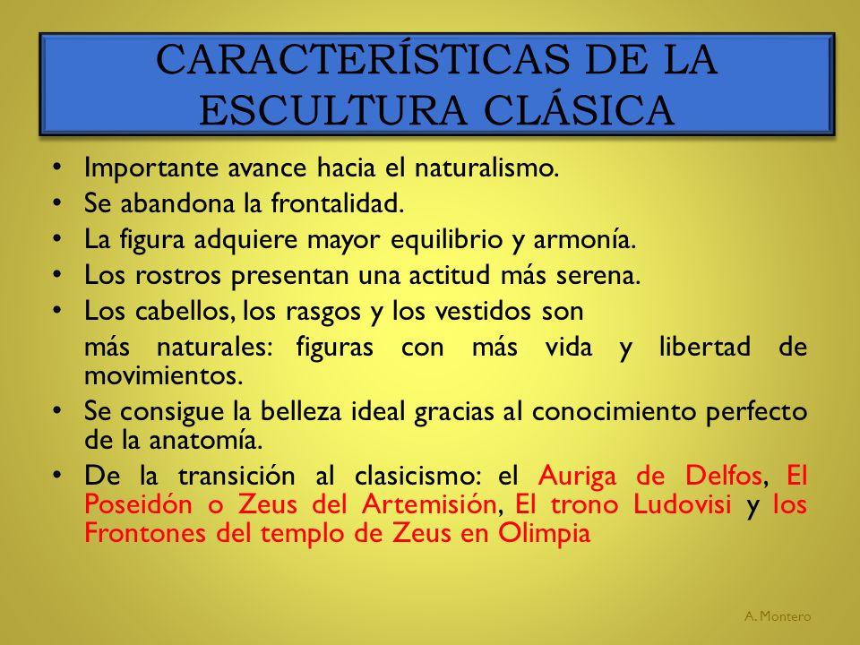 ESCULTURAS DE TRANSICIÓN AL CLASICISMO GRIEGO A.