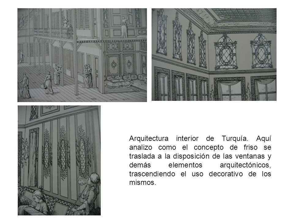Arquitectura interior de Turquía. Aquí analizo como el concepto de friso se traslada a la disposición de las ventanas y demás elementos arquitectónico