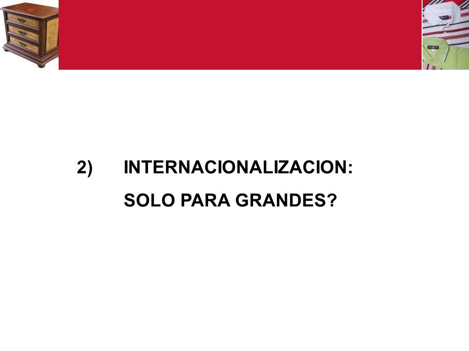 2) INTERNACIONALIZACION: SOLO PARA GRANDES?